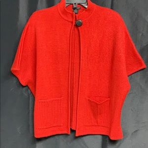 Beautiful blood red mock neck one button sweater!